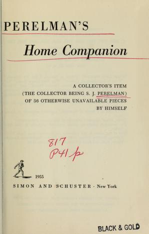 Cover of: Perelman's home companion | S. J. Perelman