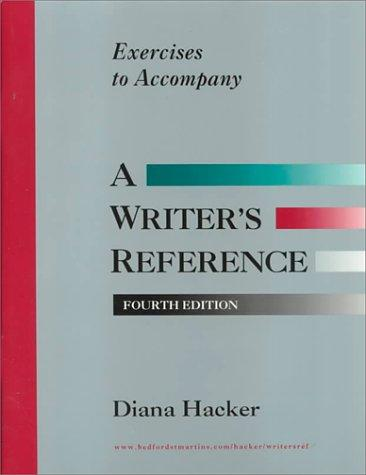 Download Exercises to Accompany a Writers Reference