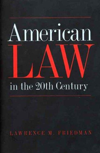 Download American Law in the Twentieth Century