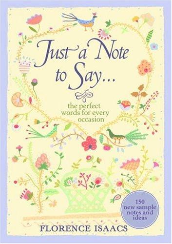 Download Just a note to say–