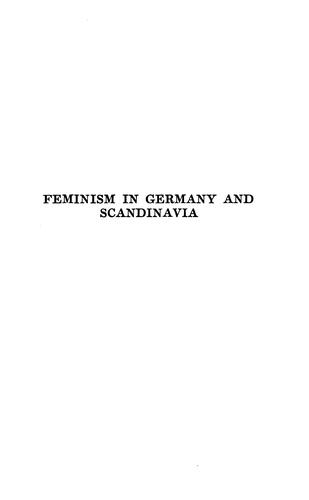 Download Feminism in Germany and Scandinavia