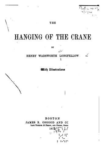 The hanging of the crane.