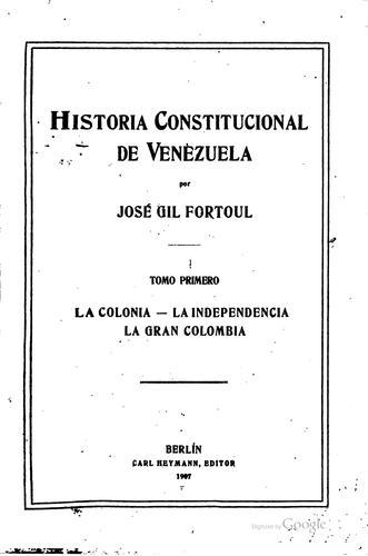 Download Historia constitucional de Venezuela