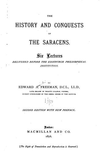 Download The history and conquests of the Saracens.