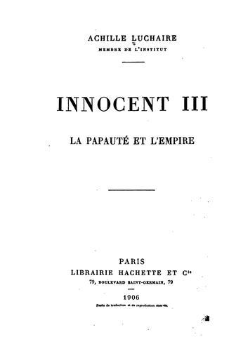 Innocent III …