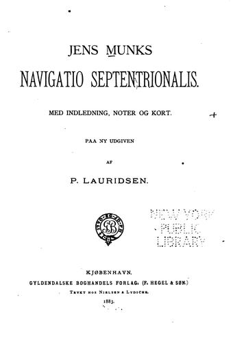 Download Jens Munks Navigatio septentrionalis.