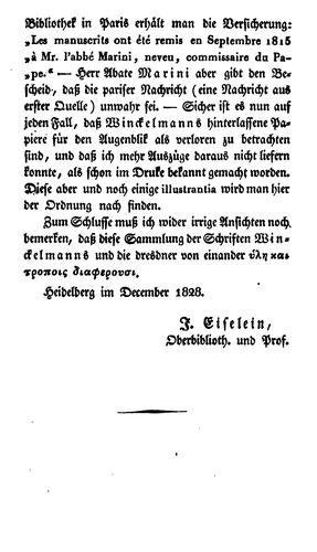 Johañ Winckelmañs sämtliche werke.