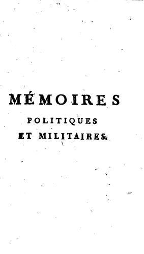 Download Mémoires politiques et militaires