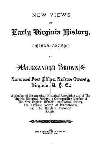 Download New views of early Virginia history, 1606-1619
