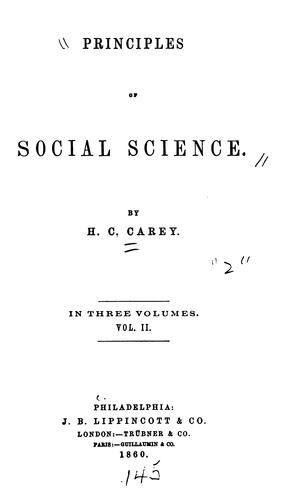 Principles of social science