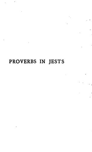 Download Proverbs in jests, or, The tales of Cornazano (XVth century)