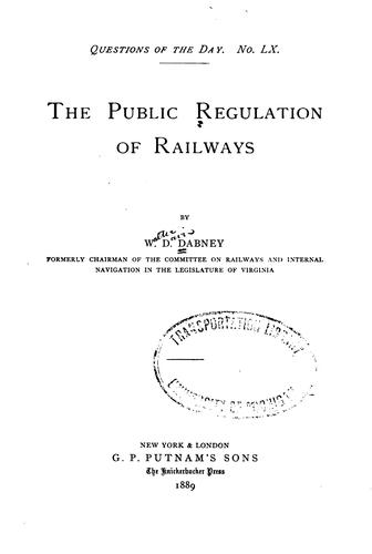 Download The public regulation of railways
