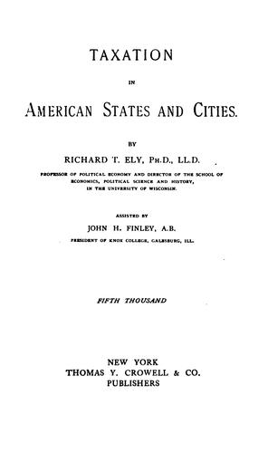 Taxation in American states and cities.