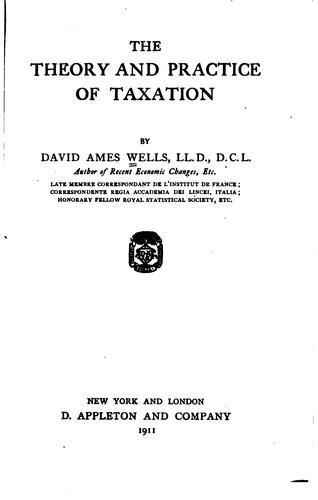 Download The theory and practice of taxation.