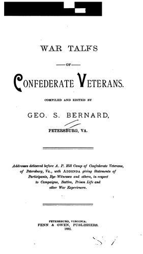 Download War talks of Confederate veterans.