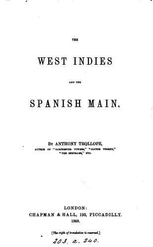 Download The West Indies and the Spanish Main.