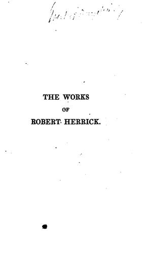 The works of Robert Herrick
