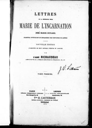 Download Lettres de la révérende mère Marie de l'Incarnation (née Marie Guyard)