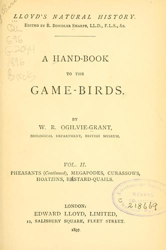 A hand-book to the game-birds.