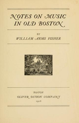 Download Notes on music in old Boston