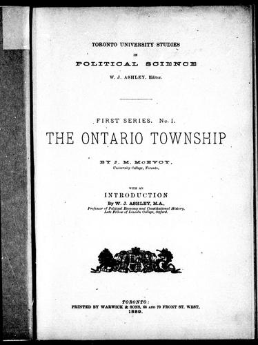 Download The Ontario township