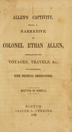 Allen's captivity by Allen, Ethan