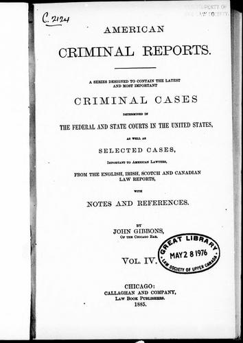 Download American criminal reports