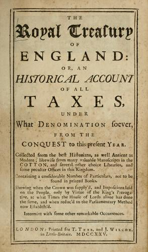 The royal treasury of England