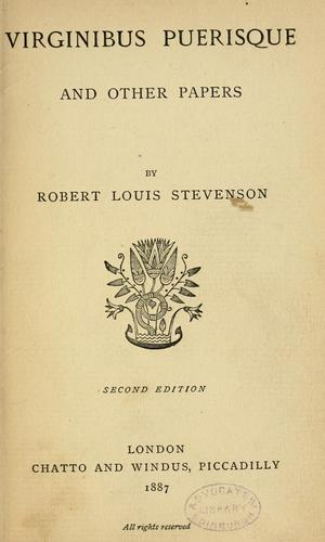 Virginibus puerisque, and other papers by Robert Louis Stevenson