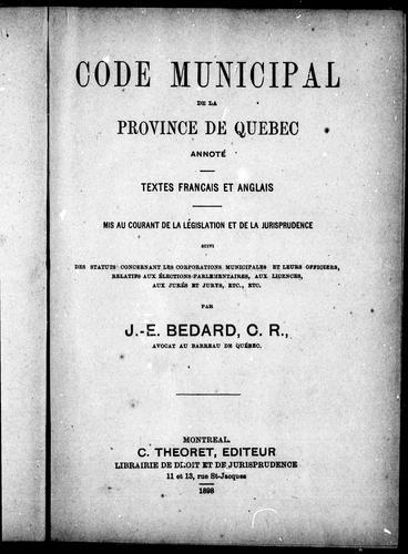 Download Code municipal de la province de Québec