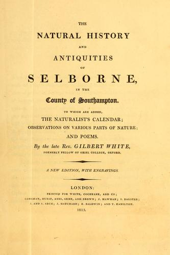 Download The natural history and antiquities of Selborne, in the county of Southampton