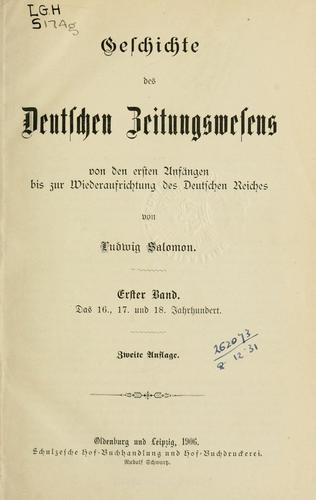 Geschichte des deutschen Zeitungswesens