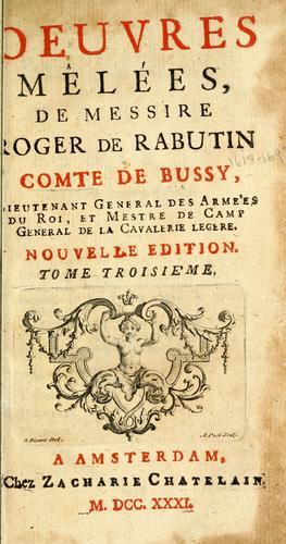 Download Les memoires de messire Roger de Rabutin, comte de Bussy.