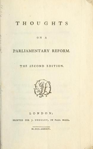 Download Thoughts on a parliamentary reform.