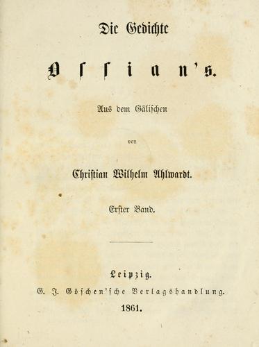 Die Gedichte Ossian's