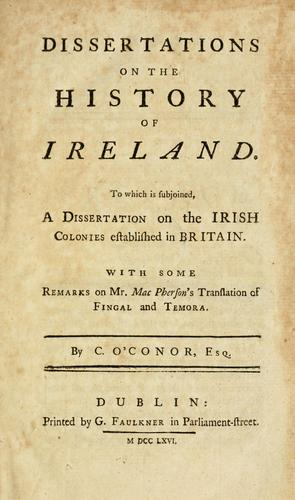 Download Dissertations on the history of Ireland.