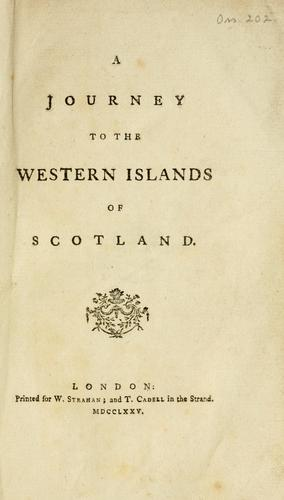 Download A journey to the western islands of Scotland..