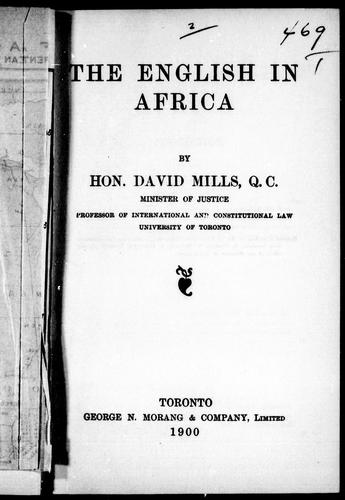 Download The English in Africa