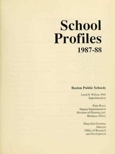 Download School profiles.