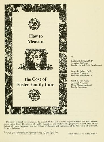 Download How to measure the cost of foster family care