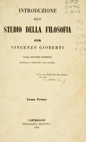 Download Introduzione allo studio della filosofia
