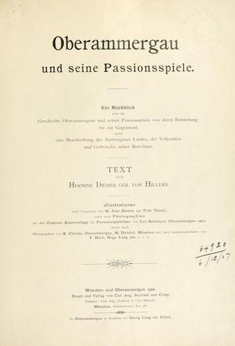 Oberammergau und seine Passionsspiele