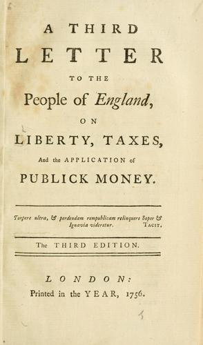 A third letter to the people of England.