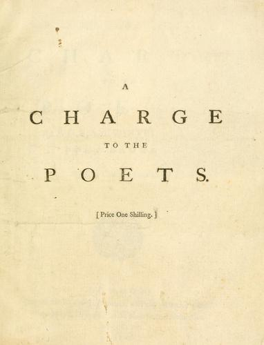 Download A charge to the poets