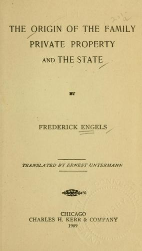 Download The origin of the family, private property and the state