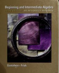 Cover of: Beginning and Intermediate Algebra   R. David Gustafson