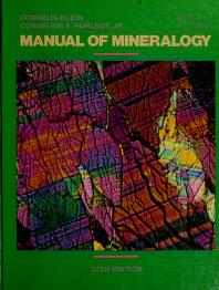 Cover of: Manual of mineralogy | Cornelis Klein