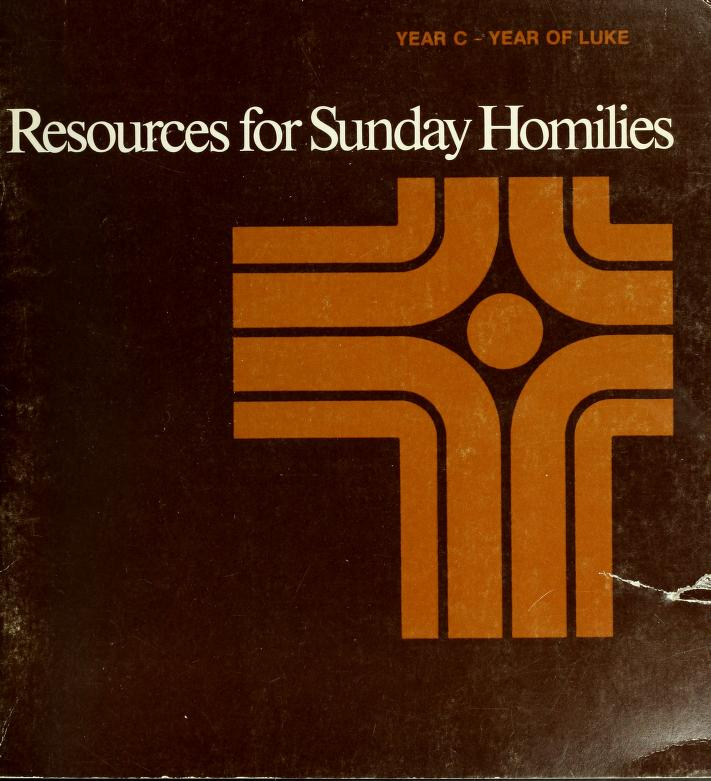Resources for Sunday Homilies by edited by National Liturgical Office.