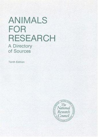 Animals for Research by National Research Council.