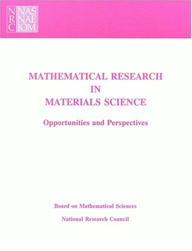 Mathematical Research in Materials Science by National Research Council.